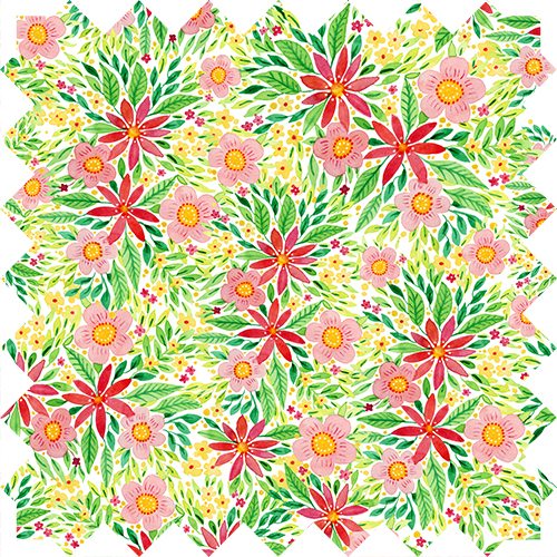 Watercolor floral pattern design by Olivia Linn