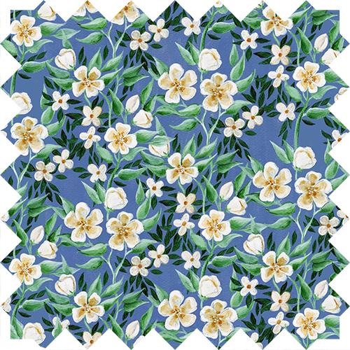 Blue floral design by Olivia Linn