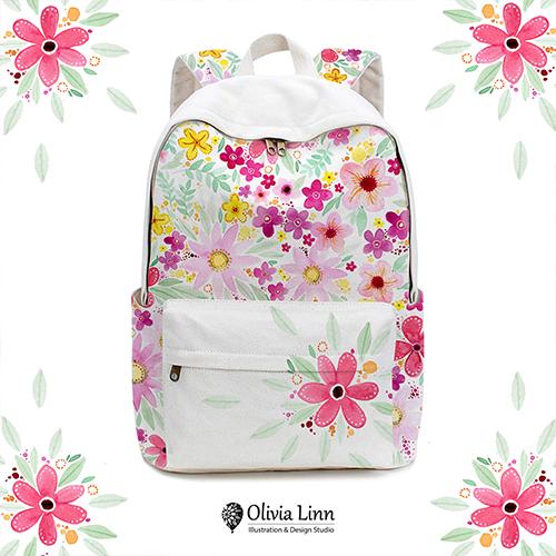 floral_backpack_design by Olivia Linn