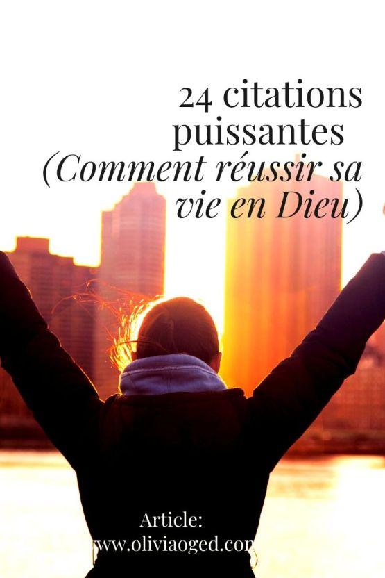 24 citations puissantes (Comment réussir sa vie en Dieu).