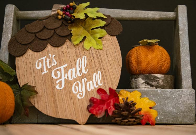 Easy Fall Decorating Dollar Store DIY Ideas: Fall Acorn Door Hanger by Olivia O'Hern