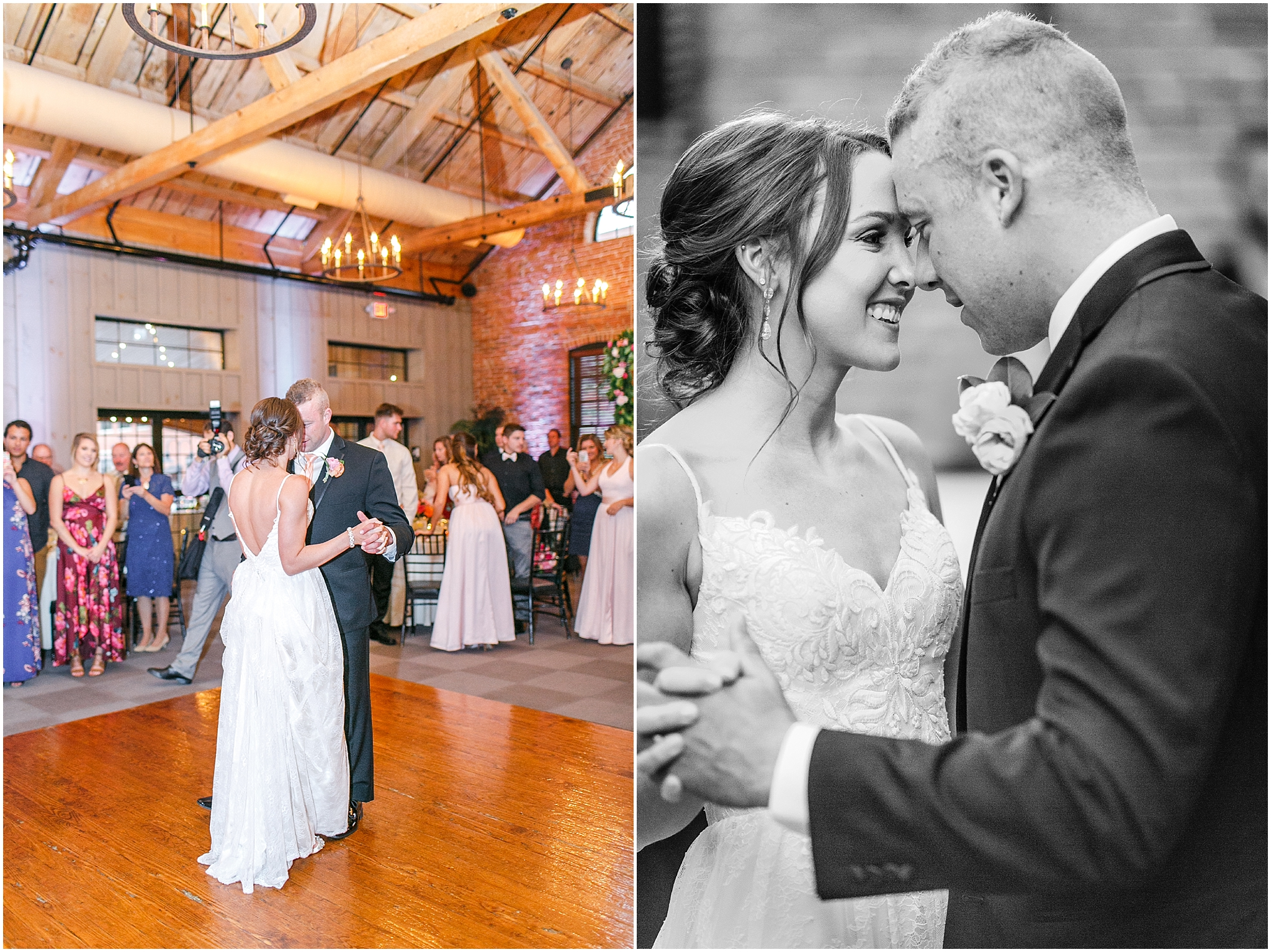 Candle Lit Cork Factory Hotel Wedding, Lancaster PA by Olivia Rae Photography