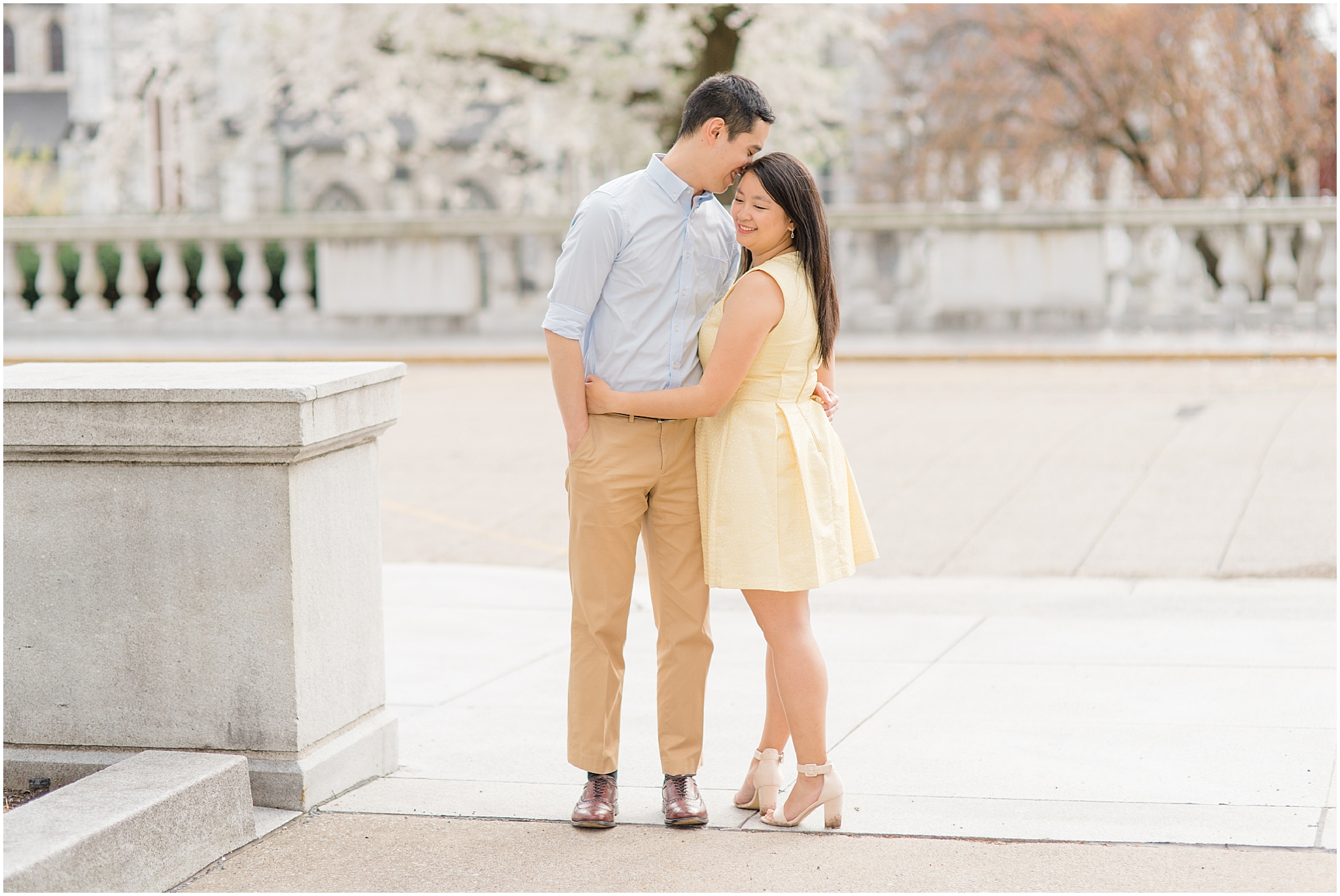 Harrisburg Capitol Engagement in Lancaster PA by Philadelphia Wedding Photographer Olivia Rae Photography