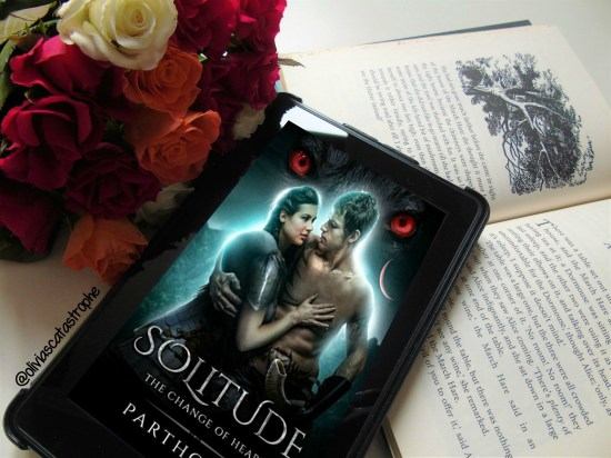 solitude the change of heart by partho sen ebook on open book with roses