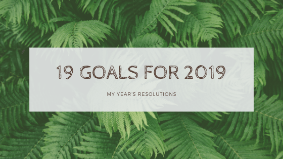19 Goals for 2019!