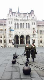 Guards in front of Parliament