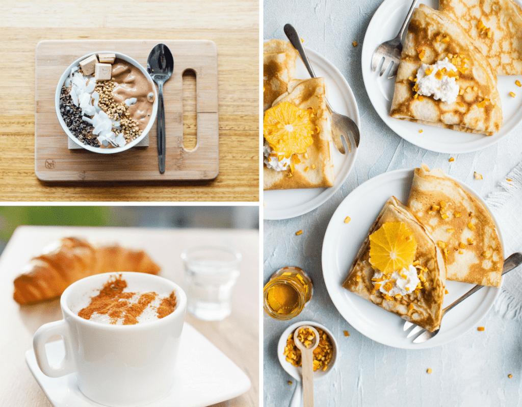 keto, breakfast, smoothie, bowl, chocolate, grains, coffee, bulletproof coffee, cinnamon, cream cheese pancakes with lemon and whipped cream, keto breakfast ideas