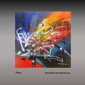 Hygie oeuvre abstraite colorée