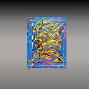 peinture abstraire bleus