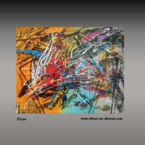 Oeuvre révélation multi couleurs