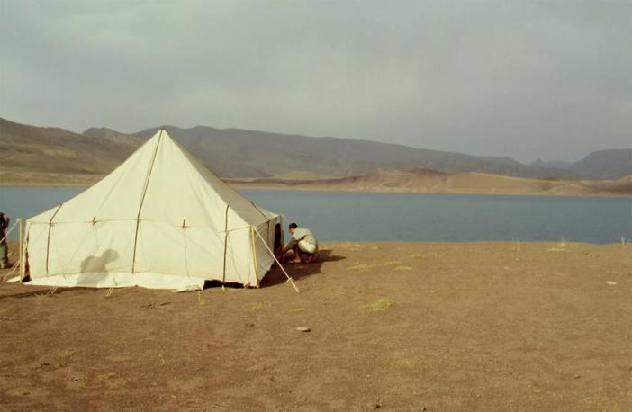 Le lac d'Isli, le 15 août 1994