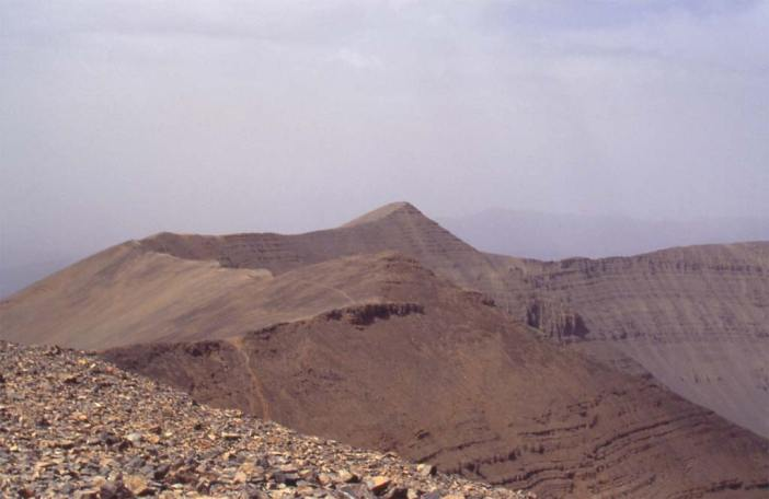 Le sommet du M'goun (4068 m), le 5 août 1994