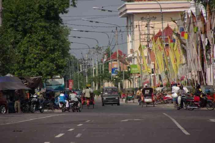 Dans les rues de Solo, le 21 juillet 2007
