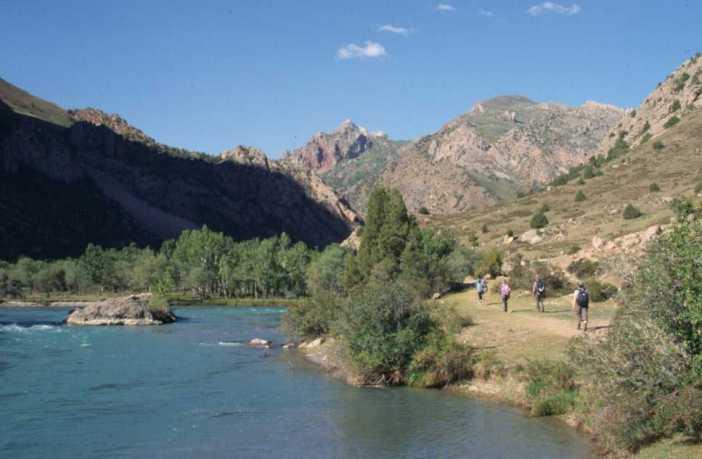 Le long de la rivière Karakul, le 11 août 2004