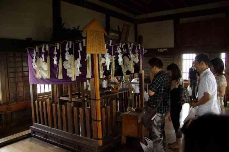 Sorte d'autel à l'intérieur du donjon du château d'Himeji (9 septembre 2007)