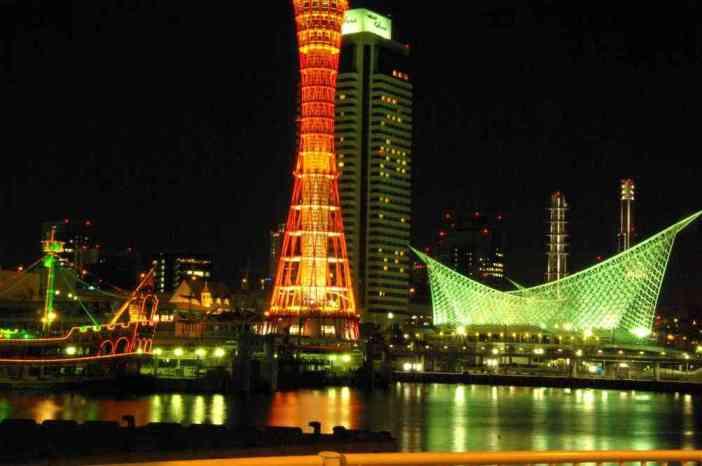 La tour et le port de Kobé, le 10 septembre 2007