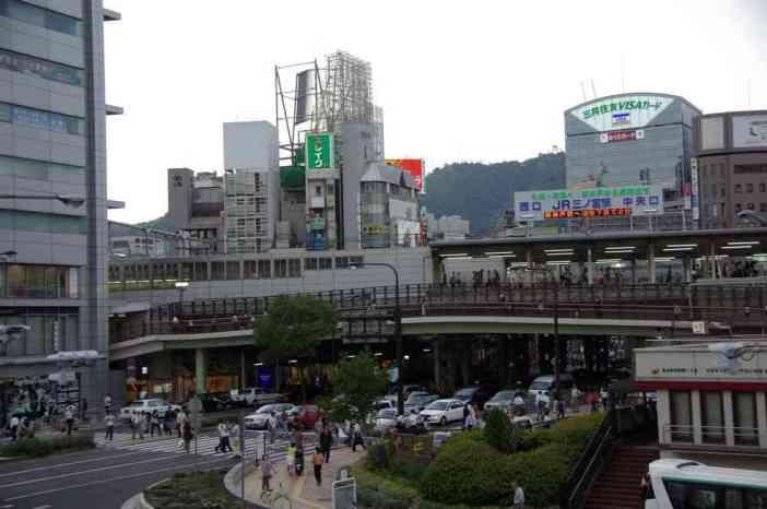 Le quartier de Sannomiya à Kobé (12 septembre 2007)