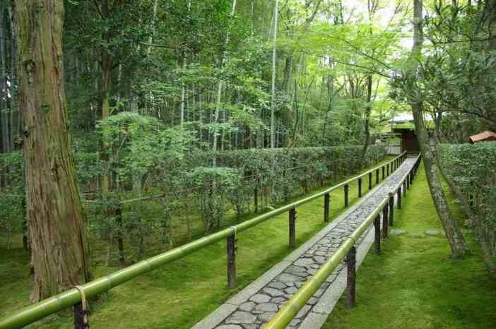 Allée de bambous conduisant au temple de Koto-in, complexe de Daïtoku-ji (Kyōto), le 15 septembre 2007