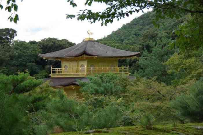 Le pavillon d'Or de Kyōto (Kinkaku-ji), le 15 septembre 2007