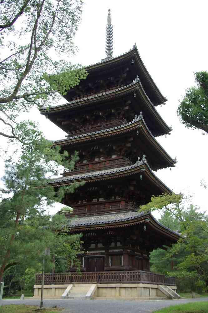 La grande pagode du Ninna-ji (Kyōto), le 15 septembre 2007