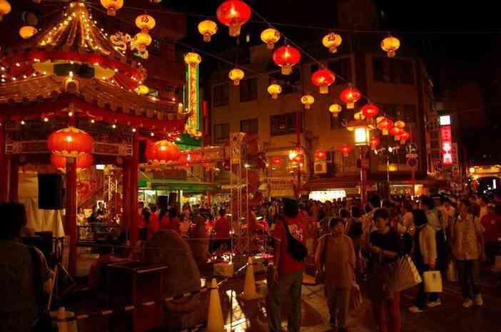Le quartier chinois de Kobé, le 15 septembre 2007