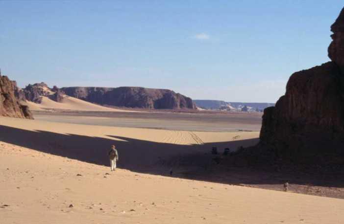 Près de la dune d'Ourty (13 février 1998)
