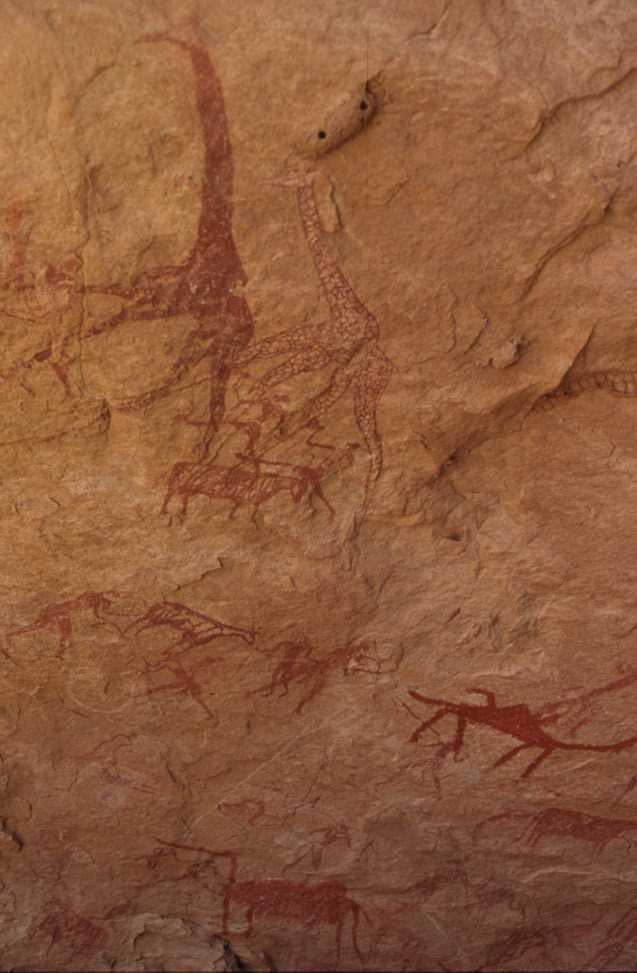 Peintures rupestres à Tigui Cocoïna (16 février 1998)