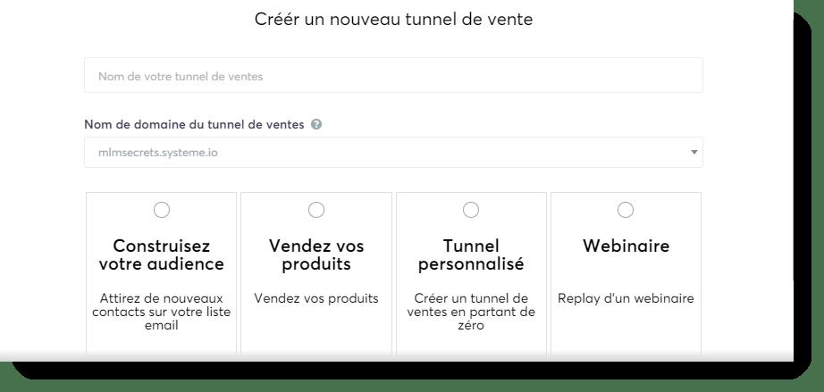 Systeme.io Créér un Nouveau Tunnel de Vente