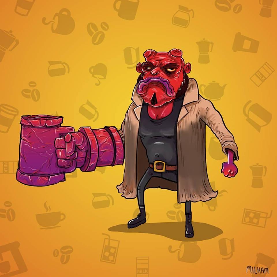 Hellboy par Sam Milham