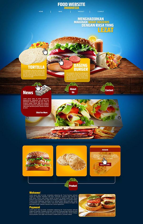 Desktop and Mobile Food Website