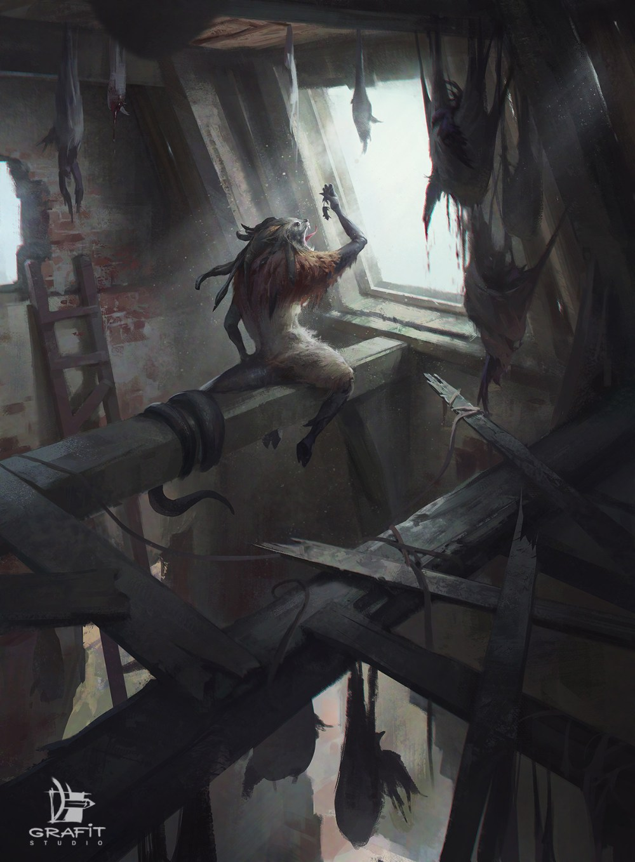 "House of the Dead Illustration for studio ""Grafit"""
