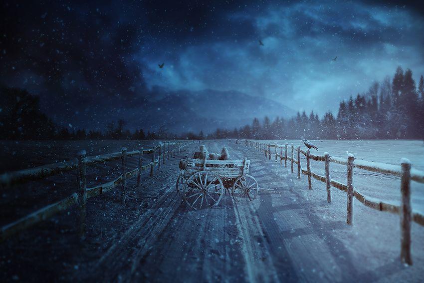Tutoriel Matte painting hiver