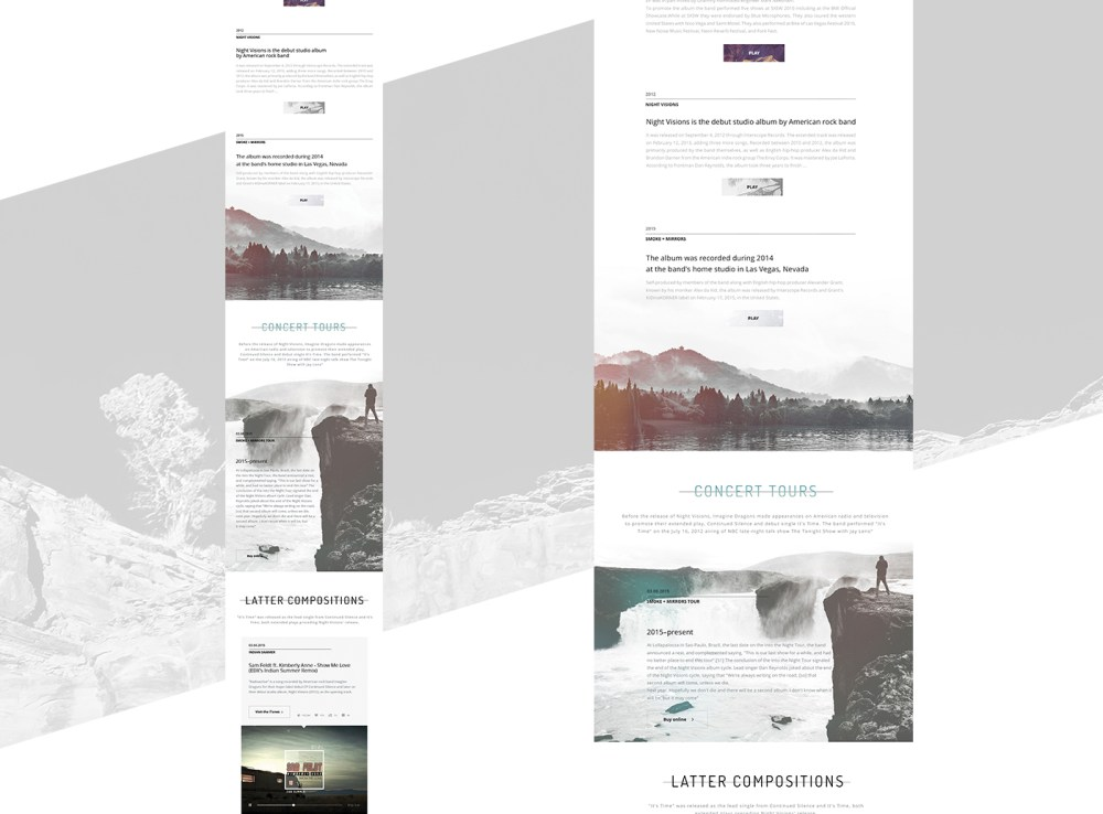 Free responsive PSD template for musician