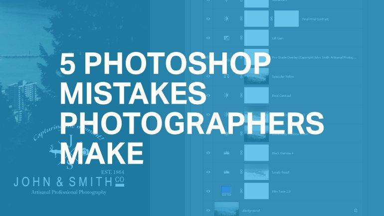 5 erreur fait par les photographe