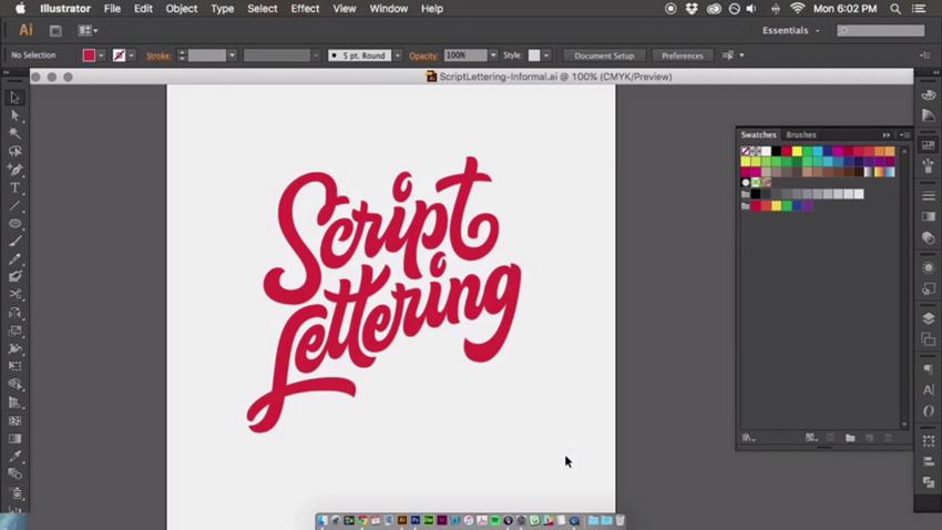 Script-lettering-vectoring