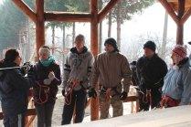 2013 former le personnel du parc construit à Negresti