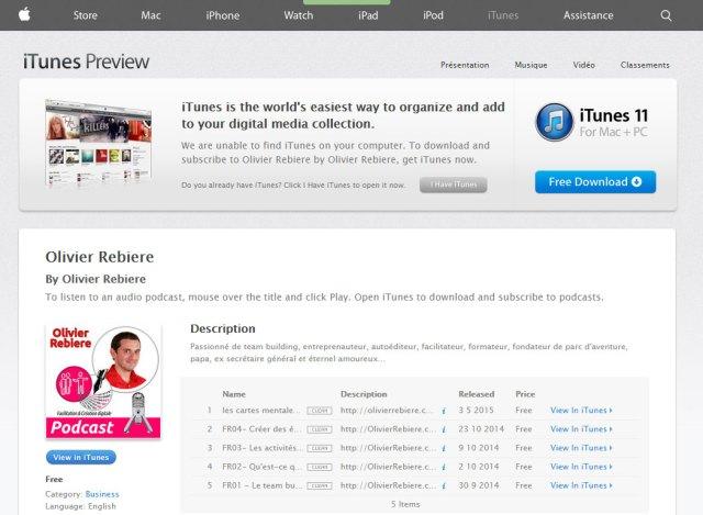 mon podcast est sur Apple iTunes!