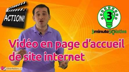 Vidéo en page d'accueil de site internet