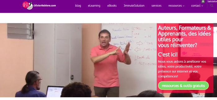 OlivierRebiere.com - vidéo d'accueil