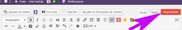 PageBuilder Bouton