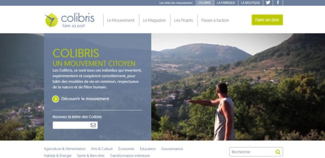 Le mouvement Colibris - vidéo d'accueil