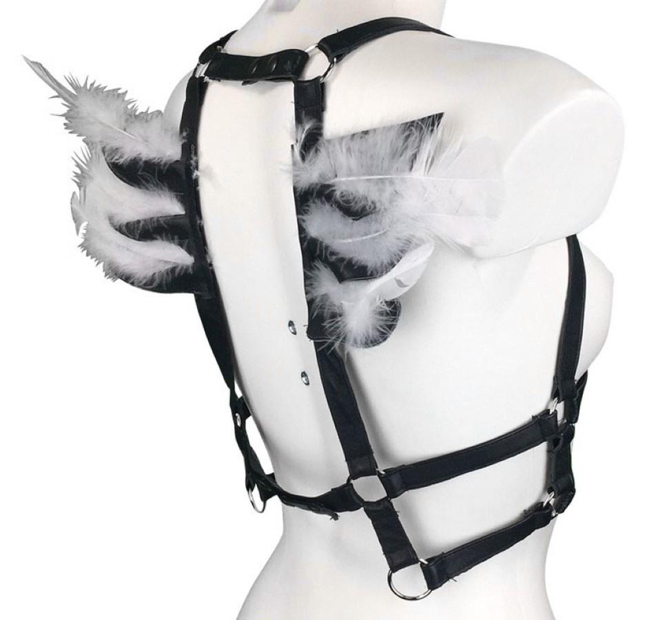 Harness Angel - black leather