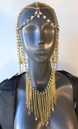 Face Mask Seherezada - gold chain
