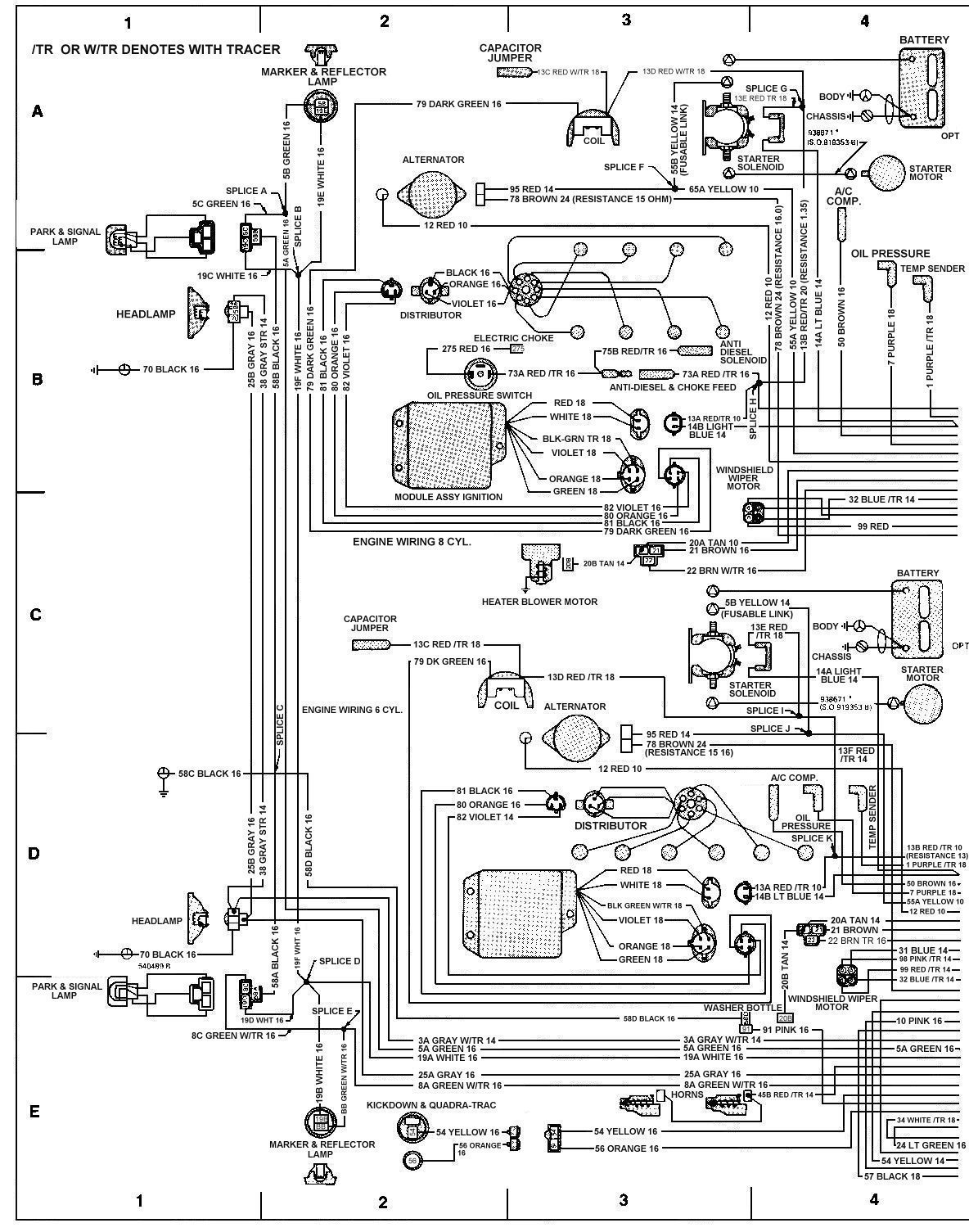 81 chevy radio wiring diagram