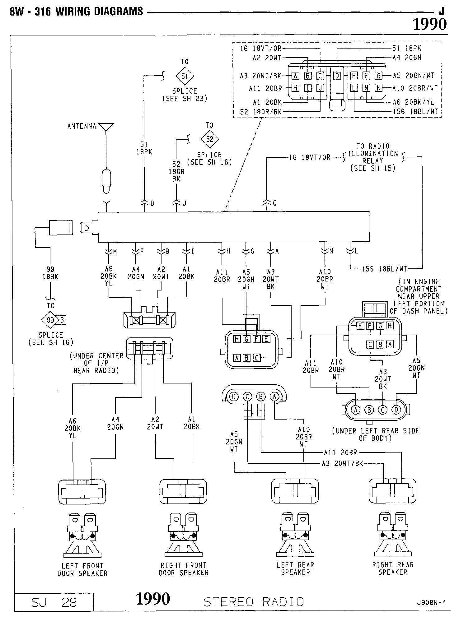 Back Of Jeep Radio Wiring Diagram Diagrams For Compass 1990 Cherokee Stereo 40 Harness Pins