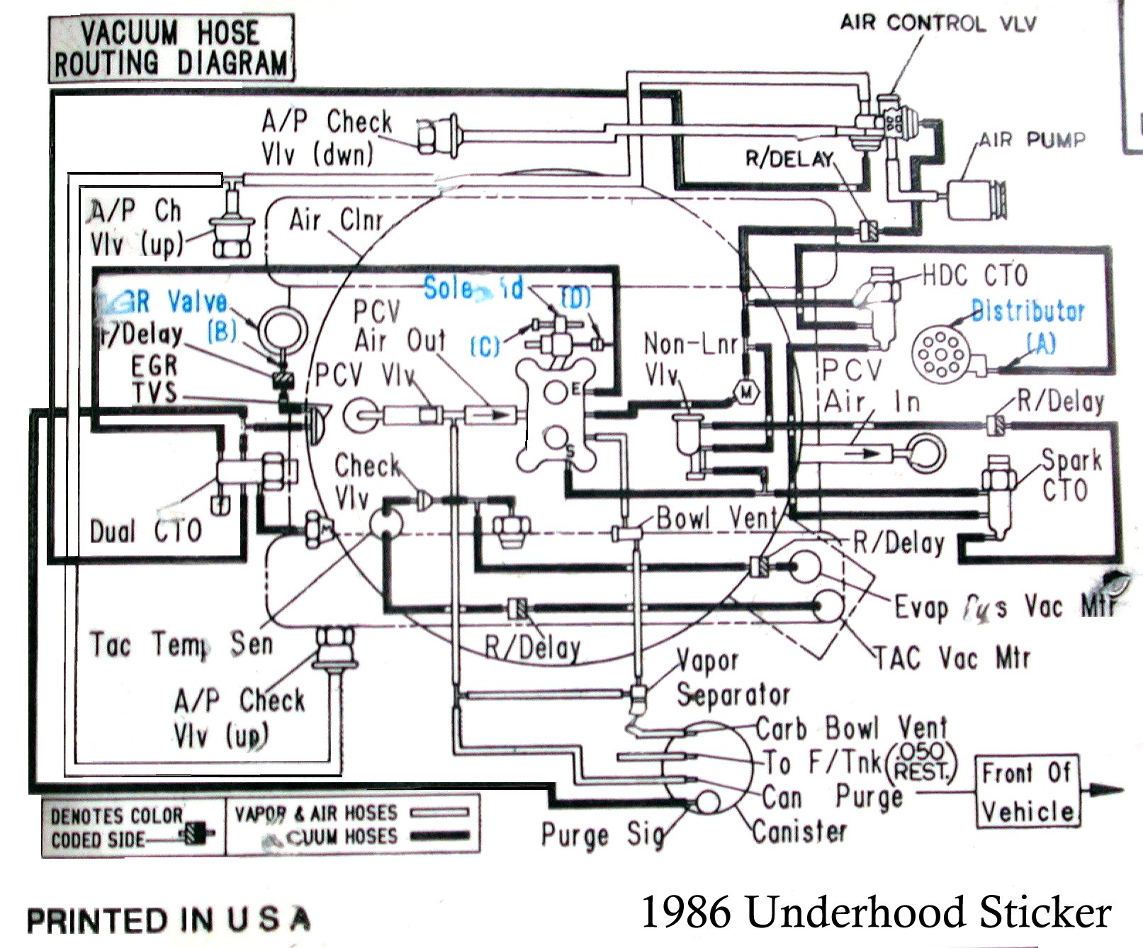 Corvette Pcv Valve Diagram