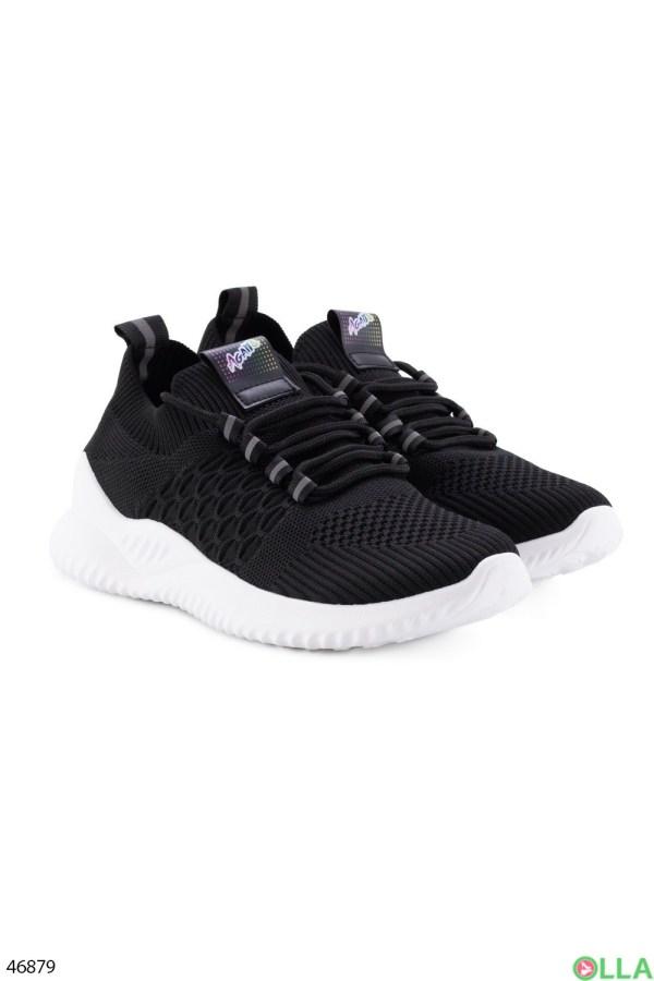 Женские чёрные кроссовки цена 219.00 грн. И-B11 купить в ...