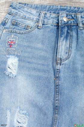 Женская джинсовая юбка цена 319.00 грн. И-D3740 купить в ...