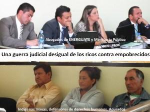 Secuestro, encarcelamiento y condena contra defensores indígenas. Guatemala. Siglo XXI