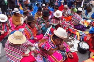 Quechuas y aymaras en el III aniversario del Estado Plurinacional de Bolivia. OI